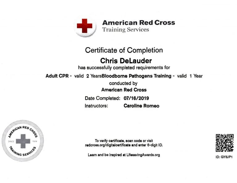 TATTOO MAFIA, INC. Chris DeLauder American Red Cross BBPT 2019