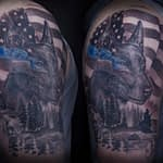 Chris DeLauder Tattoo Artist black and grey police k9