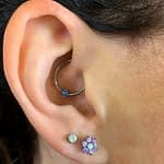 Chadwick Allendorf Body Piercer daith and double lobe piercing