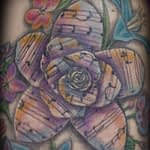 Lisa DeLauder Tattoo Artist color Flower