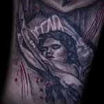 Lisa DeLauder Tattoo Artist horror movie sleeve 7