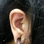 Robert Chambers Body Piercer double rook piercing