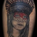 Lisa DeLauder Tattoo Artist Native American Portrait
