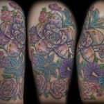 Lisa DeLauder Tattoo Artist color Flower 2