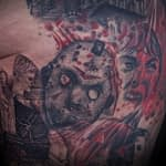 Lisa DeLauder Tattoo Artist horror movie leg