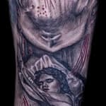 Lisa DeLauder Tattoo Artist horror movie sleeve 6
