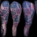 Lisa DeLauder Tattoo Artist horror movie leg 6