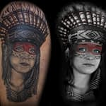 Lisa DeLauder Tattoo Artist Native American Portrait 2
