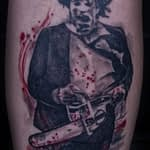 Lisa DeLauder Tattoo Artist horror movie leg 8