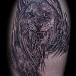Lisa DeLauder Tattoo Artist black and grey lion 3