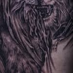 Lisa DeLauder Tattoo Artist black and grey lion 2