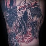 Lisa DeLauder Tattoo Artist horror movie leg 3