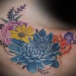 Emily Graven Tattoo Artist color flowers