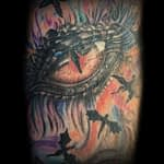 Lisa DeLauder Tattoo Artist color dragons eye