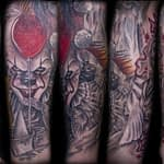 Lisa DeLauder Tattoo Artist horror movie sleeve