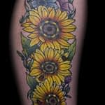 Ian Tadashi Tattoo Artist color flower 2
