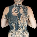 Chris DeLauder Tattoo Artist black and grey whole back
