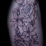 Ian Tadashi Tattoo Artist black and grey rose 2