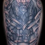 Ian Tadashi Tattoo Artist black and grey ram armor