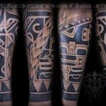 Ian Tadashi black and grey polynesian 1/2 sleeve