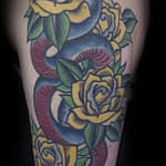 Ian Tadashi color snake and rose