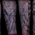 Ian Tadashi Tattoo Artist black and grey angel rose