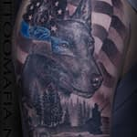 Chris DeLauder Tattoo Artist black and grey police k9 2